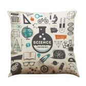 New Fashion Diverse Special Mathematical Chemical Formula Elements Linen Printed Throw Pillow Covers Pillowcases Cushion Decorative for Children Playroom Bedroom Living Room Office Car Seat Gift