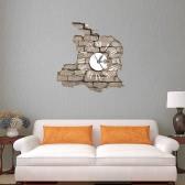 15.4 * 14.9 '' DIY Removable 3D Wanduhr Aufkleber Quarzwerk Wand Decortive Aufkleber Wohnzimmer Schlafzimmer Decal Dekor