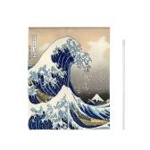33 '' * 55 '' Японский стиль Дверной занавес Холст Комната Дверь Конфиденциальность Noren Занавес Гобелен Домашнее украшение с натяжным стержнем - Волна