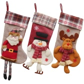 Christmas Hanging Stockings Gift Candy Bag Christmas Decoartions Ornements - Santa