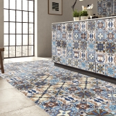 196 * 8 cali PVC Wodoodporne Samoprzylepne 3D Vintage Kolorowe Tapety Tapeta Roll Wall Floor Kontakt Naklejki Naklejki Naklejki Dekal Dekoracje Domowe