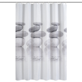 Htovila 72 * 72 '' Impreso Poliéster Impermeable Cortina de Ducha Cortina de Baño Mildewproof Decorativo con 12 unids Ganchos