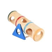 Wood Seesaw Tunnel Tube Pet Toy Mouse Dwarf Hamster Mice Rat Chinchillas Small Animal Playground