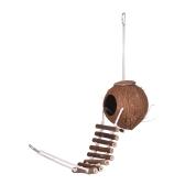 Vogelhaus Nest Coco Hideaway Barsch mit Leiter Vogelkäfig Zubehör Schaukel Spielzeug für Wellensittich Ara Sittich Kakadu
