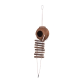 Bird House Nest Coco Hideaway Perch with Ladder Bird Cage Accessories Swing Toy for Budgerigar Macaw Parakeet Cockatoo