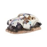 Ornamento de imitação de carro para bomba de oxigênio de pedra de bolha de ar Aquário Decoração de tanque de peixe Decoração Resina Eco-friendly decorativa
