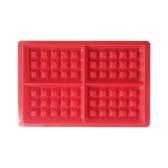 Silikon Waffel Form mit Non-Stick-Fach 100% Food Grade Backblech Küche Backen Backformen karierten Backen Werkzeuge