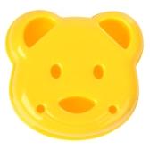 Sandwich Cutter DIY Mold Lindo oso en forma de pan en relieve Herramientas Molde de arroz para niños Happy Lunchtime Appetite Improver