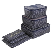 Luggage Organizer 6PCS Water-resistant Bag for Cloth Underwear Wardrobe Suitcase Pouch Packing Package Sorting for Travel Business Trip