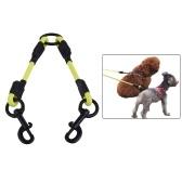 SST002P PVC Okrągły podwójny pies Smycz dla psa Łącznik Wodoodporny dezodorant Pies podwójny prowadzić Twin Way Walk Zestaw prowadzi zestaw Nie plątanina dla dwóch dużych małych psów Pet Supplies