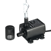 Decdeal USB DC5V 2.4W Ultra-quiet Mini Brushless Water Pump Waterproof Submersible Fountain Aquarium Circulating 250L/H Lift 200cm