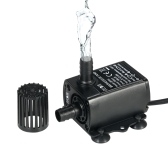 Decdeal Ultra-silencioso Mini DC12V 6W Bomba de água sem escova com 5.5 * 2.1mm Feminino Waterproof Submersible Fountain Aquarium Circulando 300L / H Lift 300cm