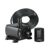 デカール超低静電ミニDC12V 10W 400L / Hリフト400センチメートルブラシレスウォーターポンプ5.5 * 2.1ミリメートル水中調整機能付き水中噴水