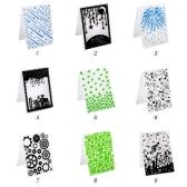 1PCS Декоративная рамка для тиснения фольги Пластиковый шаблон Текстурированные показы для скрапбукинга Карточка для фотографий Создание торта