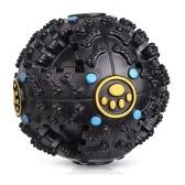 Pieski Chew Trainnig Toy Śmieszne nietoksyczne winylowe skrzypiące wycie Kulki spożywcze Puppy Black Ball