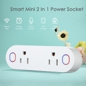Mini 2 in 1 WIFI Smart Plug Socket Wireless