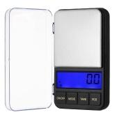 500g / 0,1g Hochpräzise Taschenwaage Genaue Schmuckskala Küchenwaage Mini Food Scale Elektrische Küchenwaage Backskala