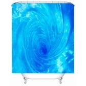 Simulación 3D Seaview Natural Scenery cortina de ducha impermeable Cortinas de baño WC con ganchos