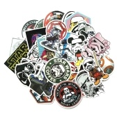 25pcs Retro Classic Motor Poster Star New Wars Waterproof Custom Scrawl Suitcase Vintage  Moveable Stickers Art Decoration Skateboard Luggage Fridge Phone Styling Home Toy Sticker