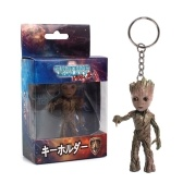 Хранители Галактики Том. 2 Lovely Tree Man Groot Key Ring Cute Baby Grunt Key Chain Action Figure Подвеска Groot Ornament