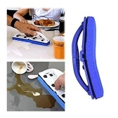 Blue Sponge Flexi Brush with Handle for Window, Desk and Kitchen