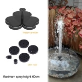Multilateral Solar Panel Flower Shape Water Pump Small Garden Fountain Pool Water Fountain Outdoor Landscape