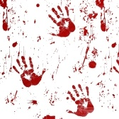 Horror Blood Table Cloth Bloody Handprint Printed Pattern Obrus