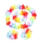 4Pcs / Set Luau Tropical Hawaiian Wreath Summer Flower Party Decorations