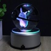 3D Crystal Pokemon Elf Ball Night Light Home Desk Mesa Decoración Bolas
