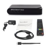 V8 HD TV Box Reproductor de satélite inteligente con adaptador
