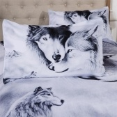 3D Wolf Printed Pattern Bedding Set