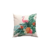 Linen Flamingo Cushion Cover