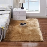 Long Plush Ultra Soft Fluffy Rugs Rectangle Shape Faux Sheepskin Wool Carpet Rug
