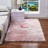 Alfombra larga suave felpa suave suave Forma rectangular Alfombra de lana de piel de oveja de imitación