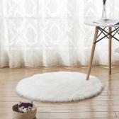 Weiches Plüsch-runde flaumige Wolldecke-künstlicher Wollboden-Matten-Teppich