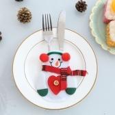 6pcs/set Christmas tableware Bag Holder Party Decorations