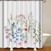 Shower Curtain Flowers Trees Imprimir Cortinas de blecaute