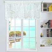 Valance Raindrop Estilo Curtos Sheer Curtains
