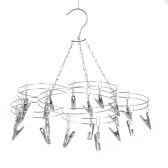 Clothes Hanger 20 Clips Stainless Steel Clothespins
