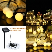 Solar String Lights 23ft 50 LED Rope Light