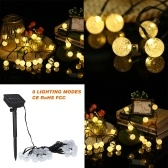 Solar String Lights 19.7ft 30 LED Rope Light
