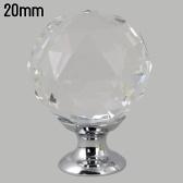 Puxador de armário puxador bola de cristal