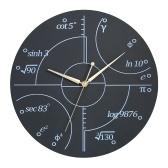 Креативные настенные часы в стиле деревянных математических часов