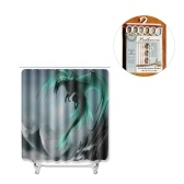 Flying Dragon Printed Pattern Bathroom Shower Curtain