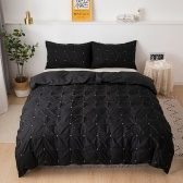 Two-Piece Suit Quilt Cover Pillowcase Beddings US-Twin Model Dark Blue