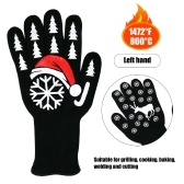 1pcs Left Hand Kitchen Gloves BBQ Heated Heat-resistant Multi-purpose Cooking Gloves