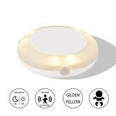 La lumière de lit activée par mouvement LED sous la lumière de lit, éteint automatiquement la lumière chaude