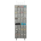 Over The Door Hanging Shoes Organizers with Hooks 24 Large Mesh Pockets for Bathroom Bedroom