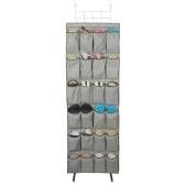 Organisateurs de porte-chaussures suspendus avec crochets, 24 grandes poches pour la salle de bains
