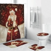4 шт Рождество тема украшения ванной не скольжения коврик